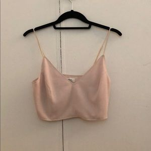 Wilfred pale pink cropped shirt / Bralette